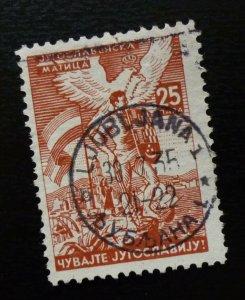 Slovenia Rare Poster Charity Stamp Croatia Yugoslavia guard warrior sword  C7