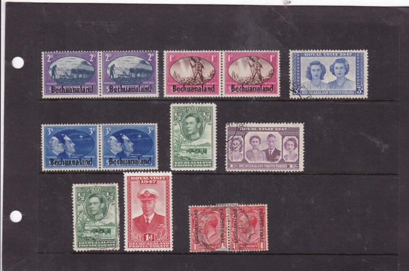 bechuanaland mm+used stamps Ref 9427