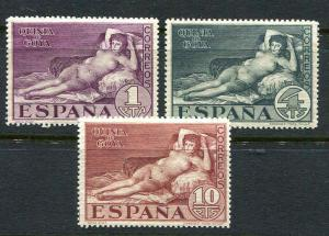 Spain Goya Nude Set Scott 397 - 399
