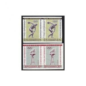 Paraguay 707-714 imperf pairs,MNH.Michel 1111-1118. Olympic Games,History,1962.