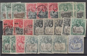 St Helena KEVII/KGV Unchecked Collection Of 24 FU/MH JK6284