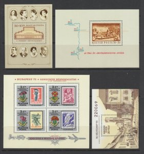 Hungary Sc B253/C376 MNH. 1965-73 issues, 11 different souvenir sheets, VF