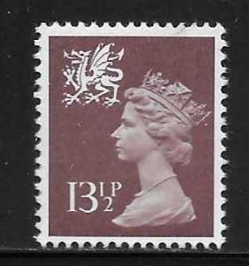 Great Britain Wales WMMH22 13 1/2p Machin MNH