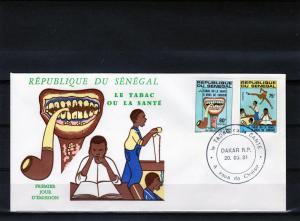 Senegal 1981 FDC Anti-Tobacco Campaign Set(2) Sc# 546-547