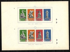 SWITZERLAND STAMPS 1940, NATIONAL FETE DAY. RED CROSS. Sc.#B105. PROOF, MNH
