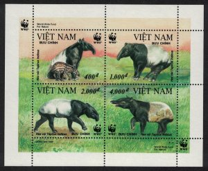 Vietnam MNH S/S 2627 Malayan Tapir WWF Wildlife 1995