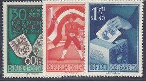 Austria scott #B269-71 Complete Set Mint NH VF