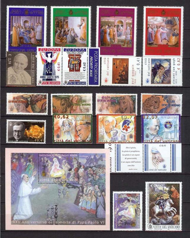 Vatican 2003 Year Complete Europe