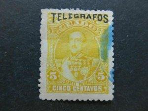 A4P46F68 Ecuador Telegraph Stamp 5c used