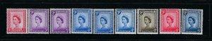 ISLE OF MAN- SCOTT #1-7 1958-69 DEFINITIVES- MINT NEVER HINGED