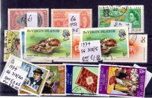 British Virgin Islands KGVI/QEII Sets x 9 Mint/VFU X7145