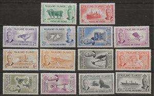 Falkland Is 107-120 SG 172-185 MLH VF 1952 SCV $200.00* (jr)