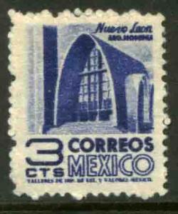 MEXICO 856 3cents 1950 Definitive 1st Printing wmk 279 UNUSED, H OG. VF.