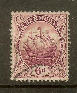 Bermuda, Scott #47, 6p Caravel, Wmk 3, Used