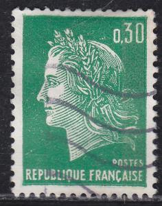 France 1230 Hinged 1969 Marianne 30c