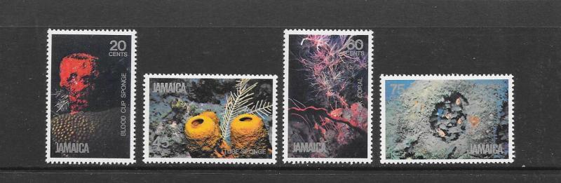 CORALS & SPONGES - JAMAICA #495-498