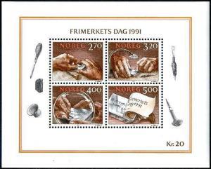 HERRICKSTAMP NORWAY Sc.# 998 National Stamp Day S/S