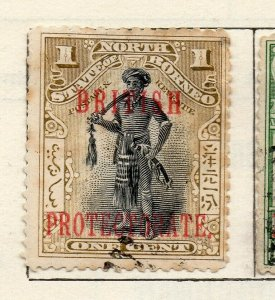 North Borneo 1901 Early Issue Fine Used 1c. Optd NW-113842