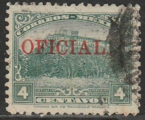 MEXICO O172, 4¢ OFFICIAL. USED. VF. (1002)