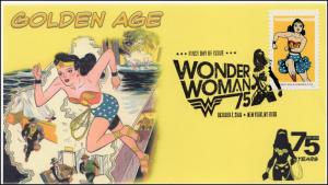 2016, Wonder Woman, Golden Age, BW Pictorial Postmark, NY NY, 16-284