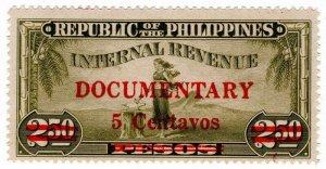 (I.B) Philippines Revenue : Documentary 5c on 2.50P OP