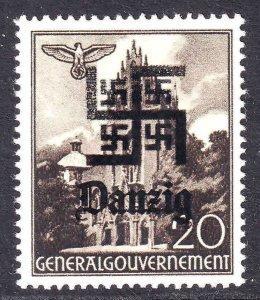 POLAND N62 WW2 DANZIG OVERPRINT OG NH U/M  VF BEAUTIFUL GUM