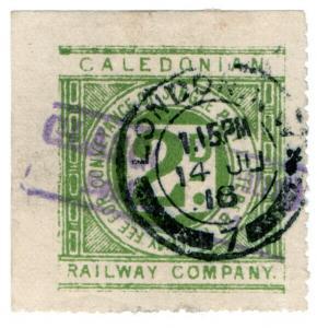 (I.B) Caledonian Railway : Letter Stamp 2d (London postal)