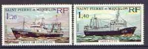 St Pierre & Miquelon 1976 Stern Trawlers set of 2 unm...