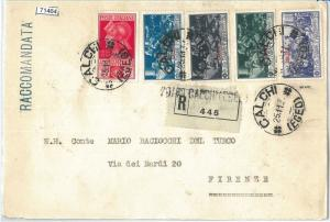 71464 - EGEO Carchi - Storia Postale - Serie FERRUCCI su BUSTA RACCOMANDATA 1930