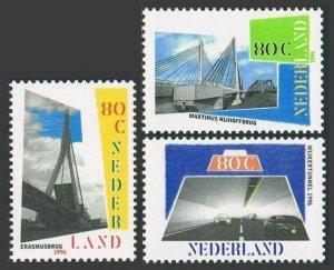 Netherlands 936-938,MNH.Michel 1585-1587. Bridges, Tunnel, 1996.