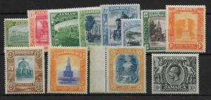 JAMAICA SG78/89 1919-21 DEFINITIVE SET MTD MINT