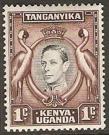 Kenya Uganda Tanganyika 1938 Scott 66 King George VI MLH