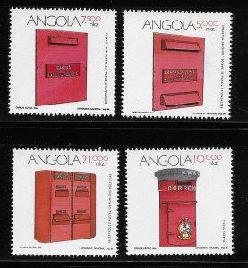 Angola 1994 Post Boxes Letter Sc 915-918 MNH A1318