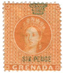 (I.B) Grenada Revenue : Duty Stamp 6d