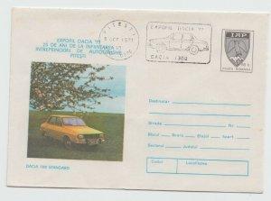 ROMANIA COVER 1977 DACIA CARS SPECIAL MARKING POST DACIA 1300