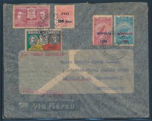 SIEGER #125C W/ C26, C27 ON CONDOR - ZEPPELIN FLIGHT COVER 1931 BU6085