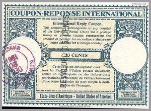 United States - IRC 13c revalued to 15c - International Reply Coupon - used 1961