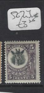 TANGANYIKA   (P1901B)   GIRAFFE  5C  SG 74  MNG