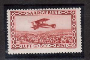 Saar #C1 (Michel #126I) Mint Cloud In Wing Variety **With Certificate**