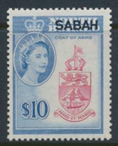 SABAH Opt on North Borneo SG 423  SC# 16 MVLH North Borneo Arms see scans /de...