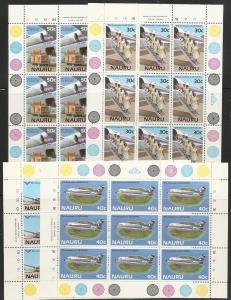 Nauru 303-6 1985 15th Air Nauru m/s MNH
