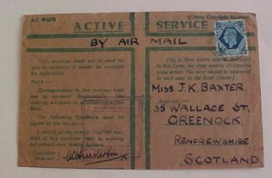 PALESTINE  EGYPT JUNE 1943 TO SCOTLAND