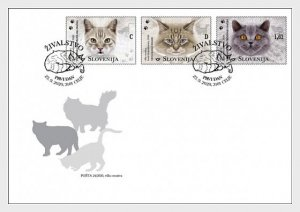 Slovenia 2020 The Domestic Cats 3v FDC's