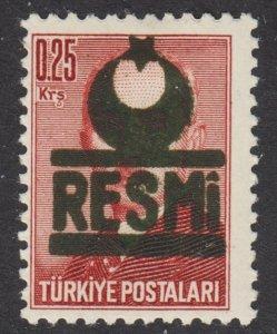 Turkey Scott O23Af black overprint F+ mint OG HR.