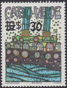 Cape Verde # 487 used ~ 30e on 10e Vapor by Hundertwasser