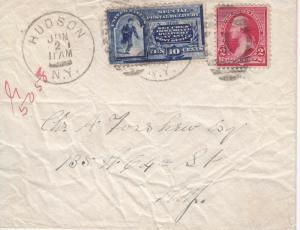 1892, Hudon, NY, Local Special Delivery, See Remark (22831)
