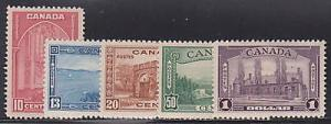 Canada 241-245 Mint Hinged ! scv $ 152 ! see pic !