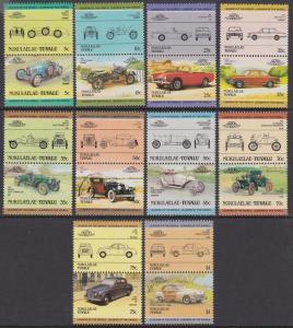 Tuvalu Nukulaelae MNH 25-34 Pairs Automobiles 1985 SCV 8.40