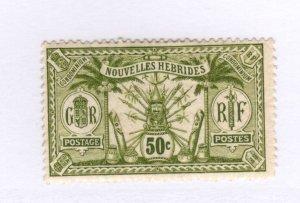 New Hebrides #17 MH - Stamp - CAT VALUE $4.00