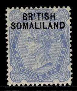 SOMALILAND PROTECTORATE QV SG4, 2½a ultramarine, LH MINT.